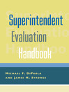 Superintendent Evaluation Handbook (eBook)